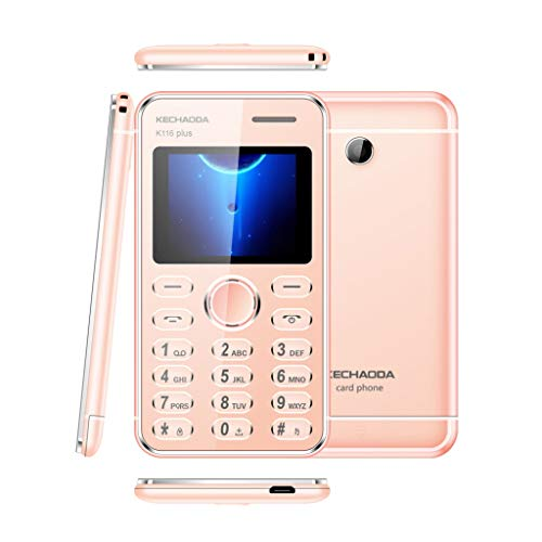 htfrgeds Mini-Telefon ENTSPERRTE Doppel SIM 2G SIM-Karte, Kunststoff KECHAODA K116plus GSM-Handy entriegelt Telefon für ältere ältere 1,8