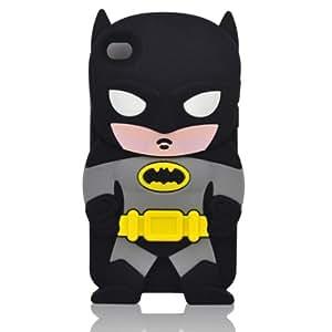Coque en silicone Batman pour Apple iPod Touch 4G avec bracelet Superchina