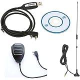 Highdas Baofeng Handheld Mikrofon+ USB Kabel Programmierkabel+Antennen F¨¹r BaoFeng UV-5R