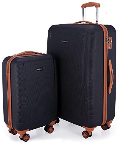 Hauptstadtkoffer - wannsee - set 2 bagagli rigidi, valigie cabina e grande (s & l), blu scuro