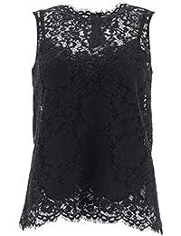 f2eb0114e79d Dolce E Gabbana - Pull sans Manche - Femme Noir Noir