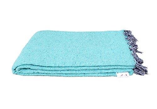 Open Road Goods Hecho a mano color sólido manta de yoga–-de grosor mexicana–-manta para sofá o hecho para Yoga.