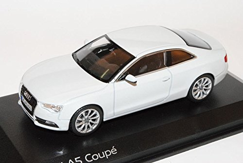 Preisvergleich Produktbild Audi A5 Coupe Glacier Weiss Facelift Ab 2011 1/43 Norev Modell Auto mit individiuellem Wunschkennzeichen