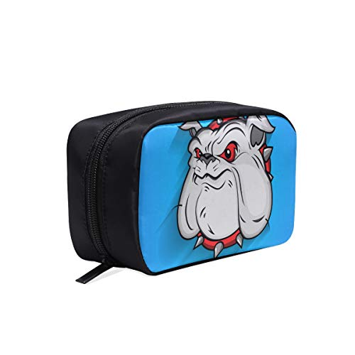 Cartoon Animation Cat Head Tragbare Reise Make-up Kosmetiktaschen Organizer Multifunktions Fall Kleine Kulturbeutel Für Frauen Und Männer Pinsel Fall (Hund Halloween-make-up Gesichter)