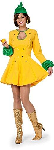 m Damenkostüm Früchte Verkleidung Zitrone 2-teilig (Zitronen Frucht Kostüm)