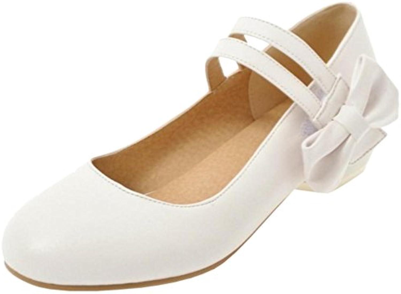 Coolcept Zapatos de Tacon Bajo con Bowknot Para Mujer