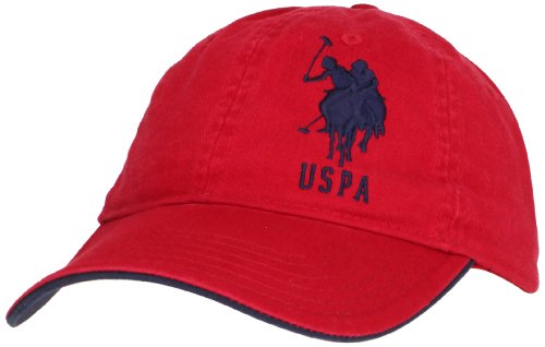 us-polo-assn-mens-solid-horse-adjustable-hat-red-one-size