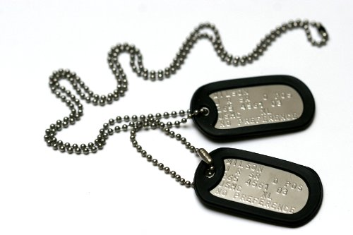 military-dog-tags-set-of-2-personalised-army-style-dog-id-tags-with-ball-chains-silencers-read-descr