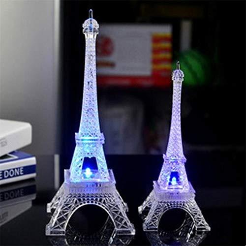 Bunter Romantischer Eiffelturm Mit Geführtem Nachtlicht-Büro-Hochzeits-Raum-Dekorations-Schmuck-Lampen-Kindergeschenk-Dekorations-Lampen-Weiß-Medium