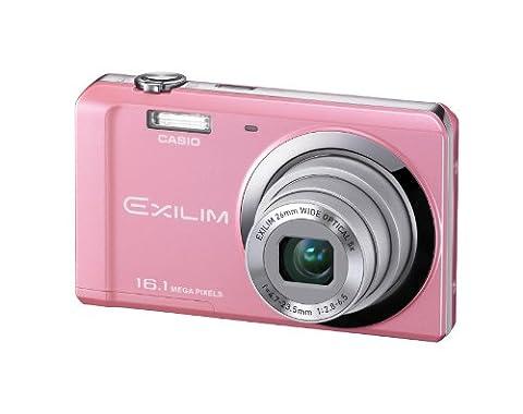 Casio Exilim EX-ZS6 Digitalkamera (16 Megapixel, 5-fach opt. Zoom, 6,9 cm (2,7 Zoll) Display, bildstabilisiert) rosa
