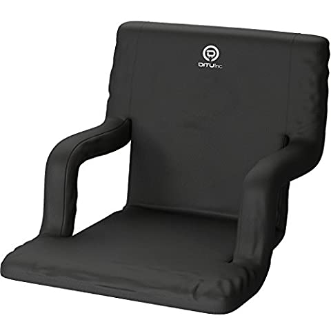 Legless Outdoor Chair with Reclining Back Support - Comfortable and Lightweight Cushion - Arm Rests – Ideal for Boats, Yachts, Stadium/Bleacher Seats, Camping, Festivals, Picnics, and More