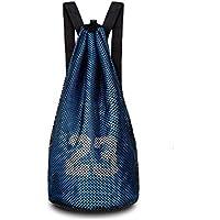 Escomdp 2 Capas 230 g Mochila de Deportes de Baloncesto con Cordón, Bolsa de Voleibol de Fútbol, 29 L (Azul)