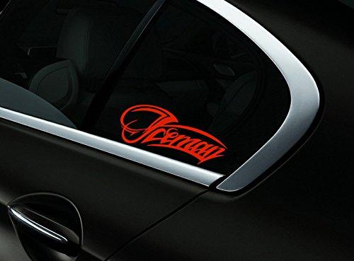 Iceman Kimi Raikkonen F1 Auto- Fenster-Aufkleber- Abziehbild- Styling, Scuderia Rote - Fenster-abziehbild Getönte