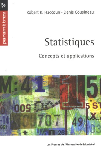 Statistiques: concepts et applications