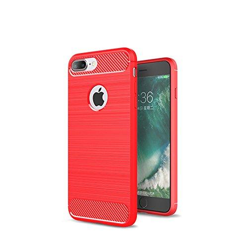 Cover iPhone 7Plus iPhone 8Plus, Sportfun morbido protettiva TPU Custodia Case in silicone per iPhone 7Plus iPhone 8Plus (01) 03