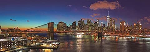Jumbo Jumbo Premium Puzzle Collection 'Hudson Bridge, New York' 1,000 Piece Panoramic Jigsaw Puzzle