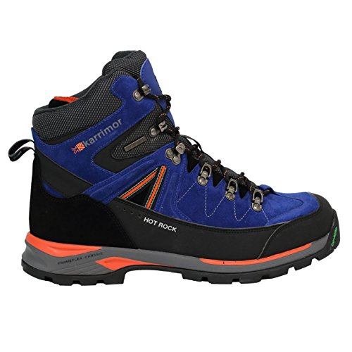 Karrimor Herren Hot Rock Wanderstiefel Wasserdicht Blau/Orange 44
