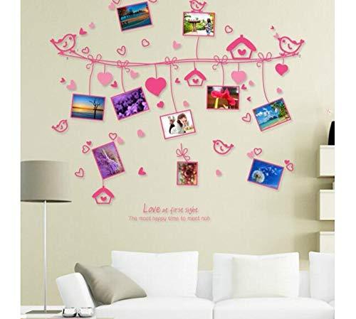 Gaochunyu Linie Der Liebe Foto Wand Liebe Den Romantischen Rahmen Wand Trim Dekorative Schlafzimmer Aufkleber An Der Wand (60 X 90 Cm) (Dekorative Wand-trim)