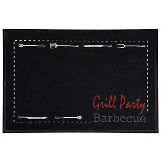 AiO-S - OK Grillmatte BBQ Fußmatte Grillteppich Schmutzfangmatte Grill Party Barbecue