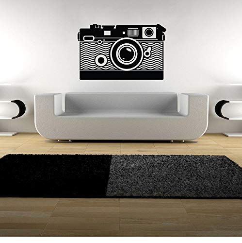 yangyueyue Wandaufkleber Kamera Wandkunst Aufkleber Vinyl Transfer Pography Video Wandaufkleber Po Studio Wanddekor Kamera Stil Fenster Aufkleber91 * 57 cm (Ge-video-kamera)