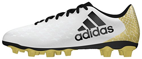 adidas X 16.4 Fxg, Entraînement de football homme Blanc (Ftwr White/Core Black/Gold Met.)