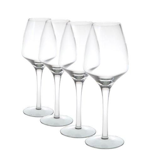 Juego de 4copas de vino elegante