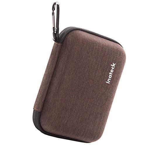 Inateck stoßfest Schutzhülle Hard Case, 5,1x 6,3cm Festplatte Fall, oder Festplatte Taschen, große Kapazität, geeignet für WD/Western Digital/Toshiba/Seagate/Samsung Portable Fall, braun (HPG)