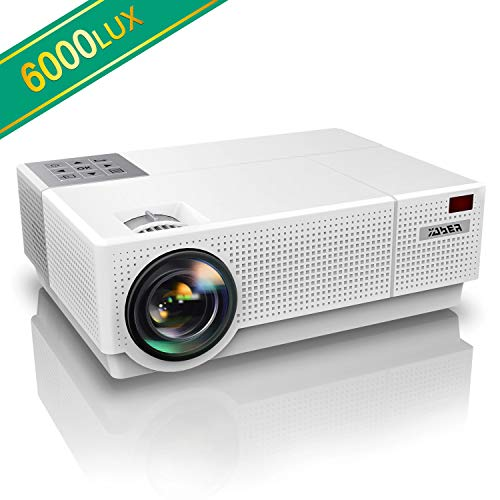 Proiettore, YABER 6000 Lumen Videoproiettore 1080P Nativa (1920x1080) ±45° Trapezoidale Correzione Led Full Hd 300' Videoproiettore Domestico Per Iphone, Smartphone, Pc, Tvbox, Laptop, Ps4