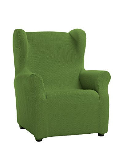 Schutzhülle aus elastischem Sessel Modell Tunez Bezug für Ohrensessel 33x42x8 cm grün