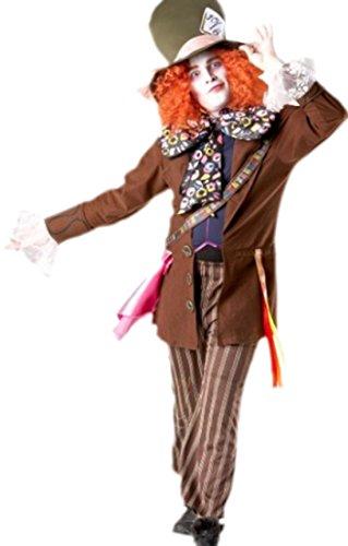 Confettery - Herren Karnevalskomplett Kostüm Mad Hatter, M, Mehrfarbig
