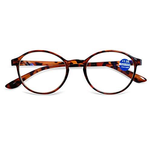 VEVISTARS Lesebrille Damen Herren Anti-Blaulicht Computer Klar Brillen Runde Hornbrille Mit Stärke...