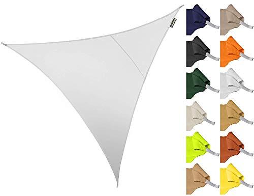 ZHhome 3 * 3 * 3m Dreieck Wasserdicht Garten Terrasse Sonnenschirm Segel Baldachin 96,5{47a31c5039a5d4e28ccba59aad15d53e05dbed969ec5b5a887fa30384969ced6} Anti-uv Abschirmung Tuch (Farbe : Weiß)