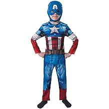 The Avengers - Disfraz Marvel The Avengers Capitán América para niños, talla S (I-610261S)