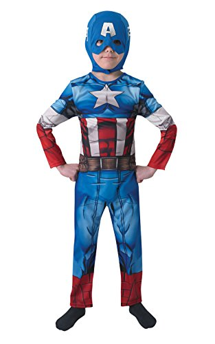 Captain America The Avengers Marvel Kostüm für Kinder, (Kostüme Captain Marvel America)