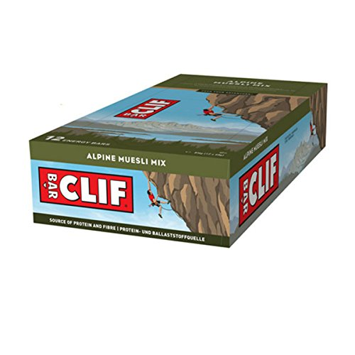 Clif Bar Barre protéinée Alpine muesli Mix -Lot de 12 barres. -