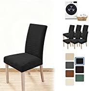 T&Q Dining Chair Covers Armless Chair Slipcover Elastic Chair Seat Protector Washable Removable for Dining