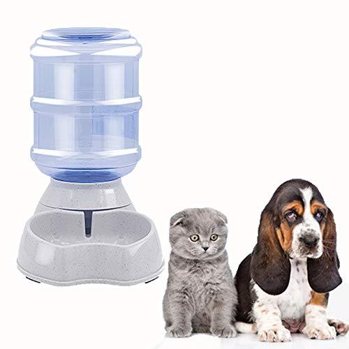 Ayuboom Automatischer Wasserspender, Automatischer Wasserspender für Haustiere,Hund Schüssel,Automatik für Hund Katze,3.8 L