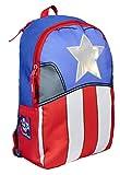 Marvel Avengers Captain America - Zainetto Per Bambini 36 Centimetri - Cappuccio Estraibile
