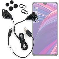 DURAGADGET Auriculares inalámbricos en Color Negro para Smartphone OPPO RX17 Pro