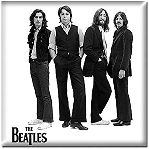 The Beatles Iconic Black & White Band Pose Steel Metal Fridge Magnet Official
