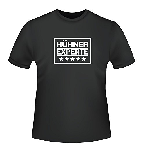 Hühner Experte, Herren T-Shirt - Fairtrade - ID104377 Schwarz