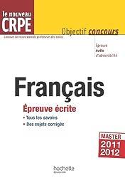 Le français au nouveau CRPE - Épreuve écrite d'admissibilité