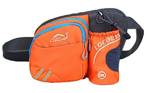 Baymate Multi-Function Außen Mit Wasserflasche Gürteltasche Wandern, Radfahren, Laufen Sports Tasche Orange