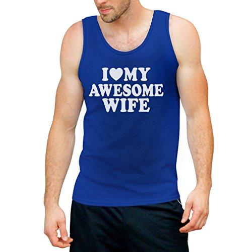 I Heart My Awesome Wife Tank Top - Liebe Meine Ehefrau / Geschenkidee Ehemann Hochzeitstag Hellblau