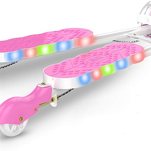 ZHIJINLI Scooter 2-3-6-8 years old feet frog scissors four wheel toy swing twist car pink flash wheel no music Img 2 Zoom