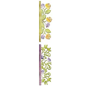 Sizzlits Deco.Strip Pochoir bordure fleurs
