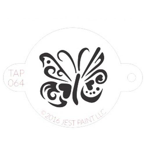 Robinet réutilisable Peinture de visage Pochoirs - Tap064 Ornate Papillon