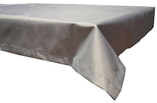 beo Outdoor-Tischdecken wasserabweisende, eckig, 130 x 180 cm, hellgrau