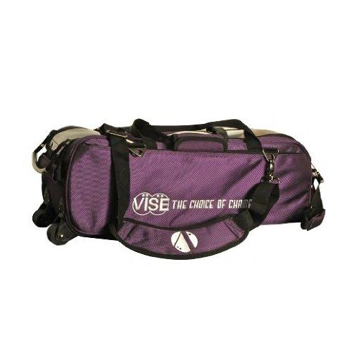 Vise Bowlingtasche mit 3 Bällen, violett (3 Bowling Ball Tasche)