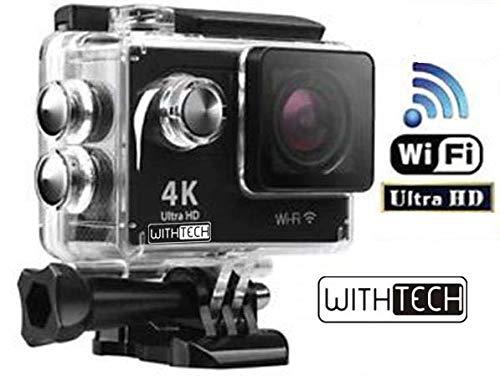 """Marca WITHTECH.  Realiza fotos y vídeo  Compatible con accesorios para GoPro (excepto fundas, carcasas y otros accesorios muy específicos de la marca).  Pantalla LCD de 2"""" con la que podrás encuadrar perfectamente tus vídeos y fotos.  Intuitiva y fác..."""